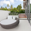View of nice big chair on the balcony of summer villa — Stock Photo #5864941