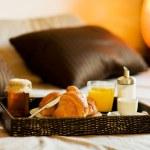 Breakfast in the bedroom — Stock Photo #8257314