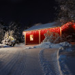 Beautiful Christmas house — Stock Photo #7602809