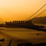 Sunset of Tsing Ma Bridge — Stock Photo #2018571