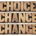 Choice, chance and change — Stock Photo #26893183