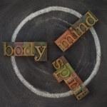 Body, mind, soul - wellness cycle — Stock Photo #3347469