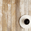 Coffee cup on grunge table — Stock Photo #5368778