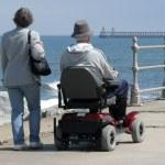 Motorized wheelchair user — Stock Photo #2067523