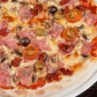 Pizza with ham and mushrooms — Stock Photo #31111951
