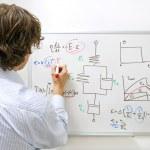 Engineer at whiteboard — Stock Photo #2088614