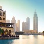 Dubai downtown at sunset — Stock Photo #8426174