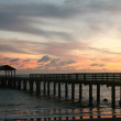 Hawaiian Pier at Sunset With Colorful Cl — Stock Photo #2269229