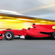 Formula one race car on speed track — Stock Photo #3712170
