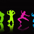 Jumps silhouette — Stock Photo #6405687