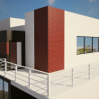 Modern private house exterior 3d — Stock Photo #3650641