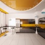 Interior design of modern kitchen 3d render — Stock Photo #5393349