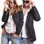 Fashion couple with sunglasses — Stock Photo #4655262