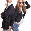 Young sexy couple posing in studio — Stock Photo #4655305