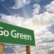 Go Green Road Sign — Stockfoto #6776932