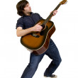 Man playing his acoustic guitar — Stock Photo #2334403