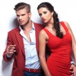 Fashion man and woman couple — Stockfoto #30365789