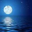 Reflection of the moon and stars — Stock Photo #2956212