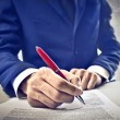 Businessman Signing a Contract — Stock Photo #12230876