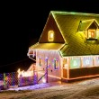 House in winter at Christmas time, Czech Republic — Stock Photo #27362733