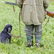 Hunting dog with hunter — Stock Photo #7144044