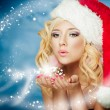 Christmas woman — Stock Photo #13975932