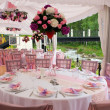 Pink wedding tables — Stock Photo #2693855