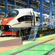 Fast train in the service depot — Stock Photo #10232755