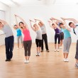 Pilates class exercising in a gym — Stock Photo #15335159