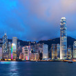 skyline de Hong kong dans la nuit — Photo #6084133