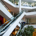 Office building escalators — Stock Photo #2930095