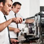 kaffe barista på jobbet — Stockfoto #28399917
