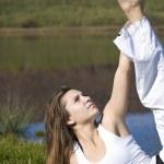 Woman doing yoga — Stock Photo #5894707