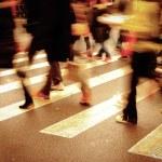 On zebra crossing — Stock Photo #7108237
