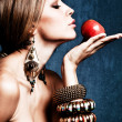 Woman and apple — Stock Photo #7600265