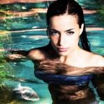 Fantasy woman in lake — Stock Photo #7650900