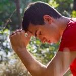 Man Praying in Nature — Stock Photo #12484987