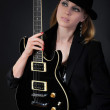 Blonde with a guitar — Stockfoto #3277178