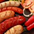 Sausage and vegetables. — Stock Photo #3332734