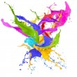 Colored splashes in abstract shape — Stock Photo #22627735