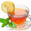 Cup tea with mint. — Stock Photo #6039526