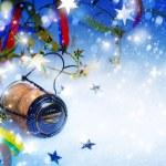 Kunst Weihnachten und Neujahr Party Hintergrund — Stockfoto #34402505