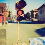 Retro look Road works — Stock Photo #51750899