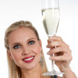 Celebrating new Years'Eve or Birthday — Stock Photo #4193420