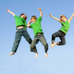 Kids jumping — Stock Photo #6361815