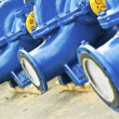 Blue water pumps — Stock Photo #3852680