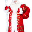 A traditional Christmas Santa Clause with staff isolated on whit — Stock Photo #7070850