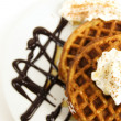 Waffles breakfast — Stock Photo #4499020