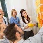 Businessman Explaining Labels On Whiteboard — Stock Photo #44192977