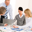 Business team meeting around table — Stockfoto #9036672